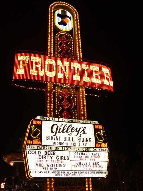 Sign Frontier Casino in Las Vegas