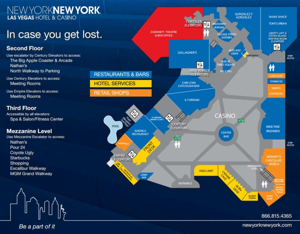 Plattegrond New York - New York casino in Las Vegas