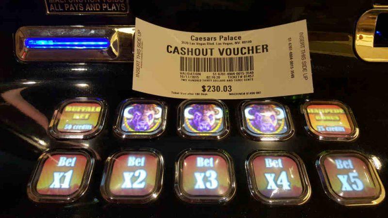 Cashout Voucher, Caesars Palace