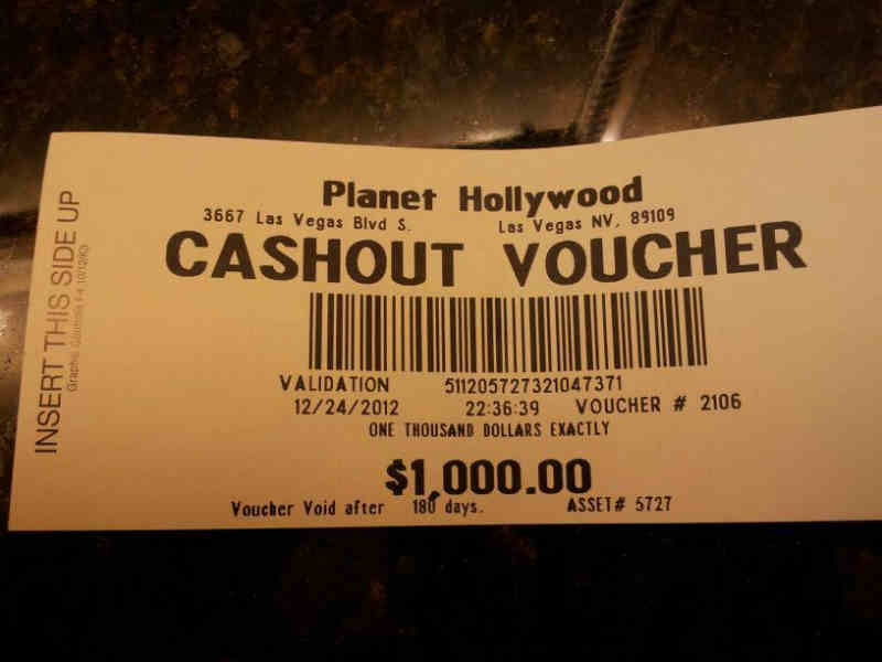 Cashout Voucher Planet Hollywood