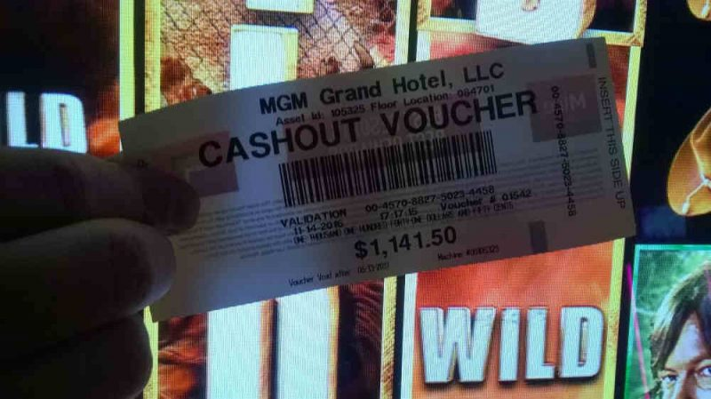 Cashout Voucher MGM Grand 14-11-2016