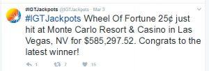 Alweer een progressieve jackpot gevallen in Las Vegas! 2 keer!