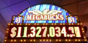 De Megabucks Jackpot van 11.8 miljoen dollar is gevallen!