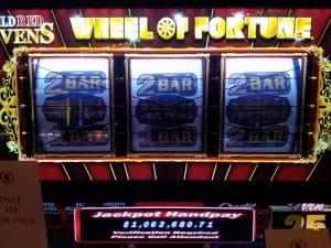 Wheel of Fortune Jackpot gevallen in Caesars Palace