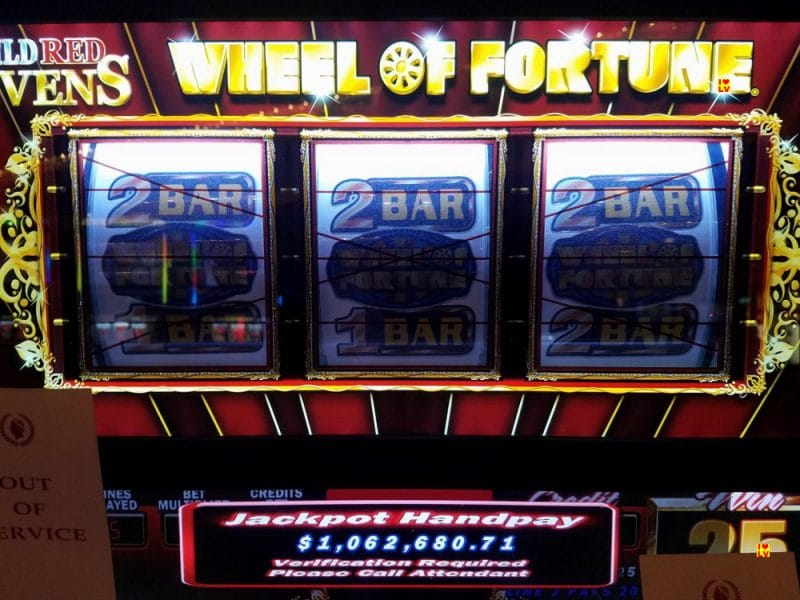 Wheel of Fortune Jackpot gevallen in Caesars Palace