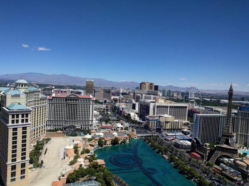 Op bezoek in het Cosmopolitan Hotel in Las Vegas.