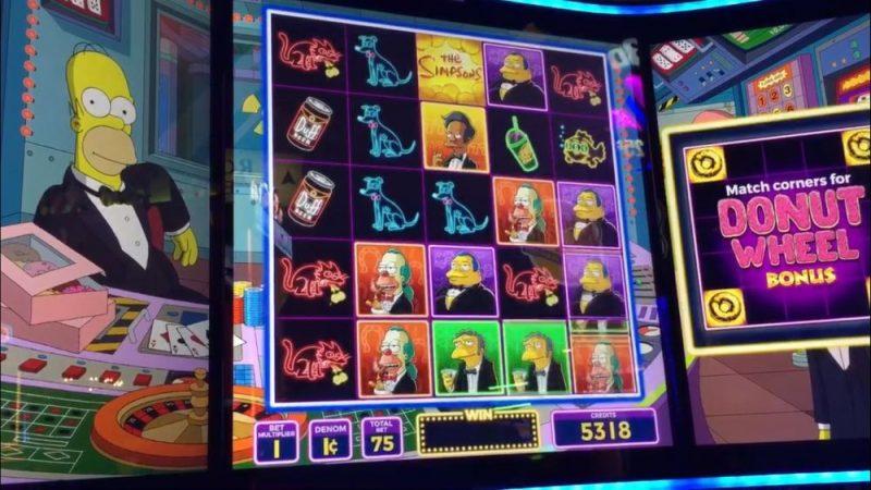 Jackpot gevallen op The Simpsons gokkast in Las Vegas