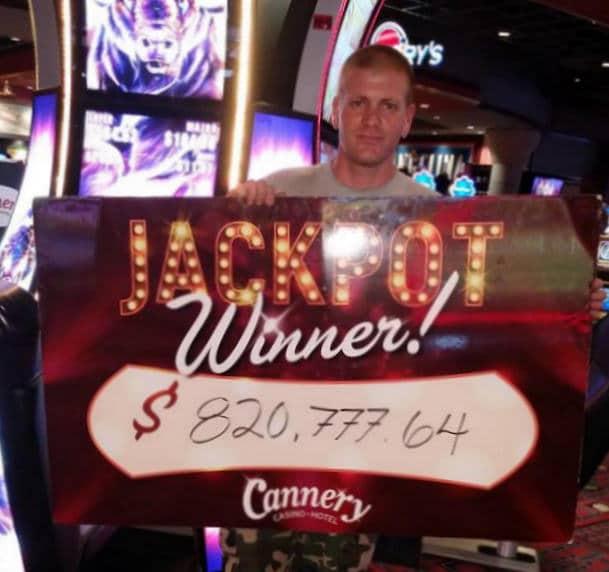 Grand Jackpot Buffalo gevallen in het Cannery Casino in Las Vegas