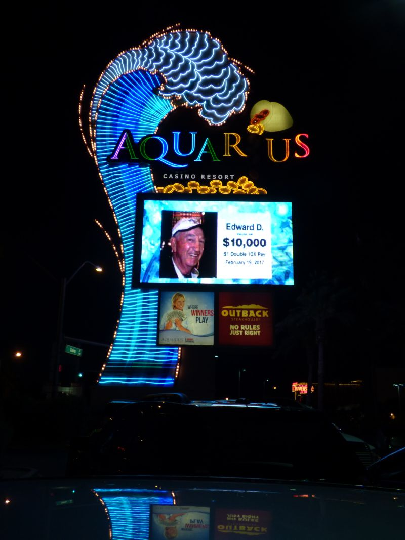 Aquarius Casino Sign