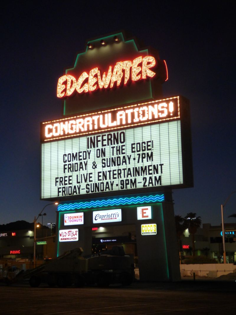 Edgewater Casino Sign in Laughlin