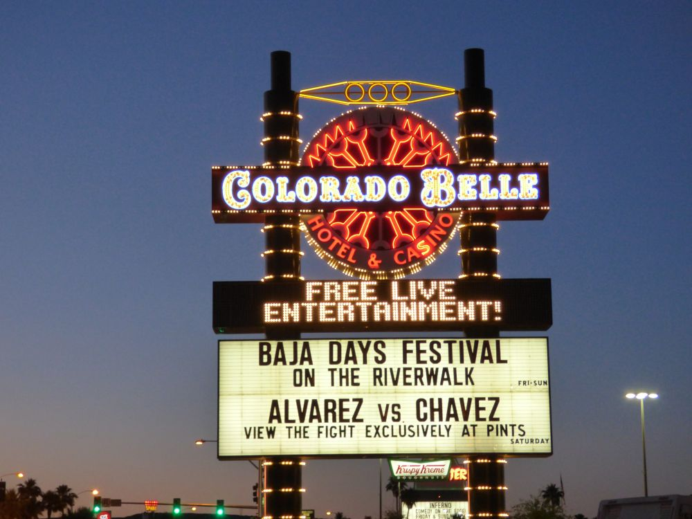 Colorado Belle Casino Sign