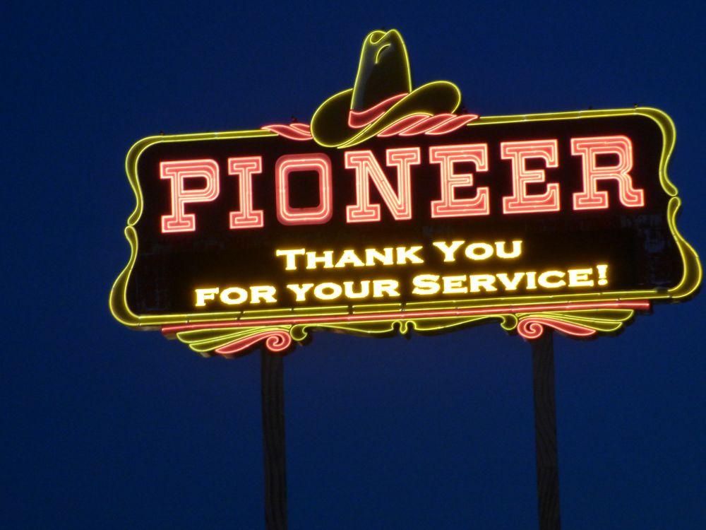 Pioneer Casino Sign in Laughlin