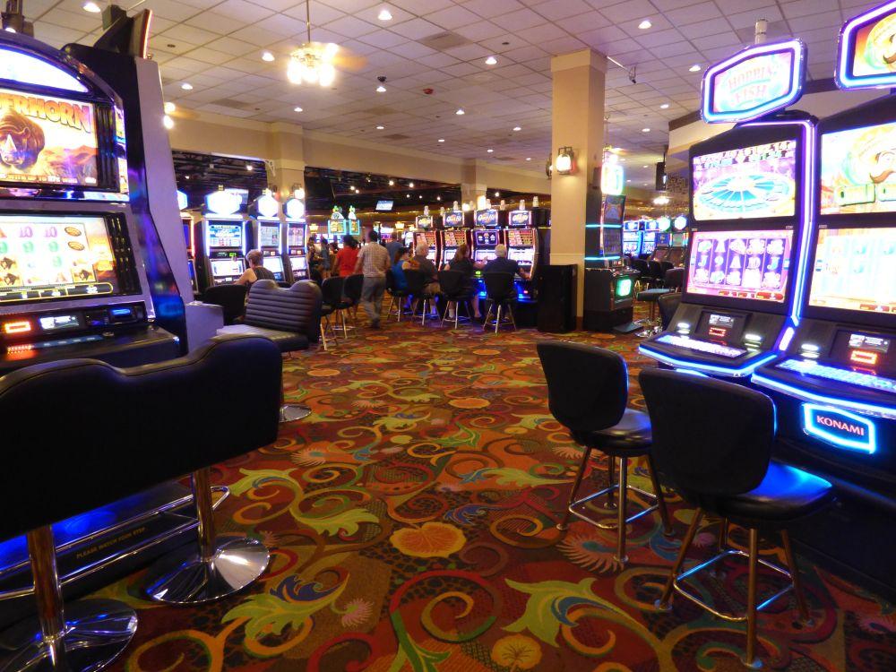 Het Tropicana Casino in Laughlin, gezellig druk