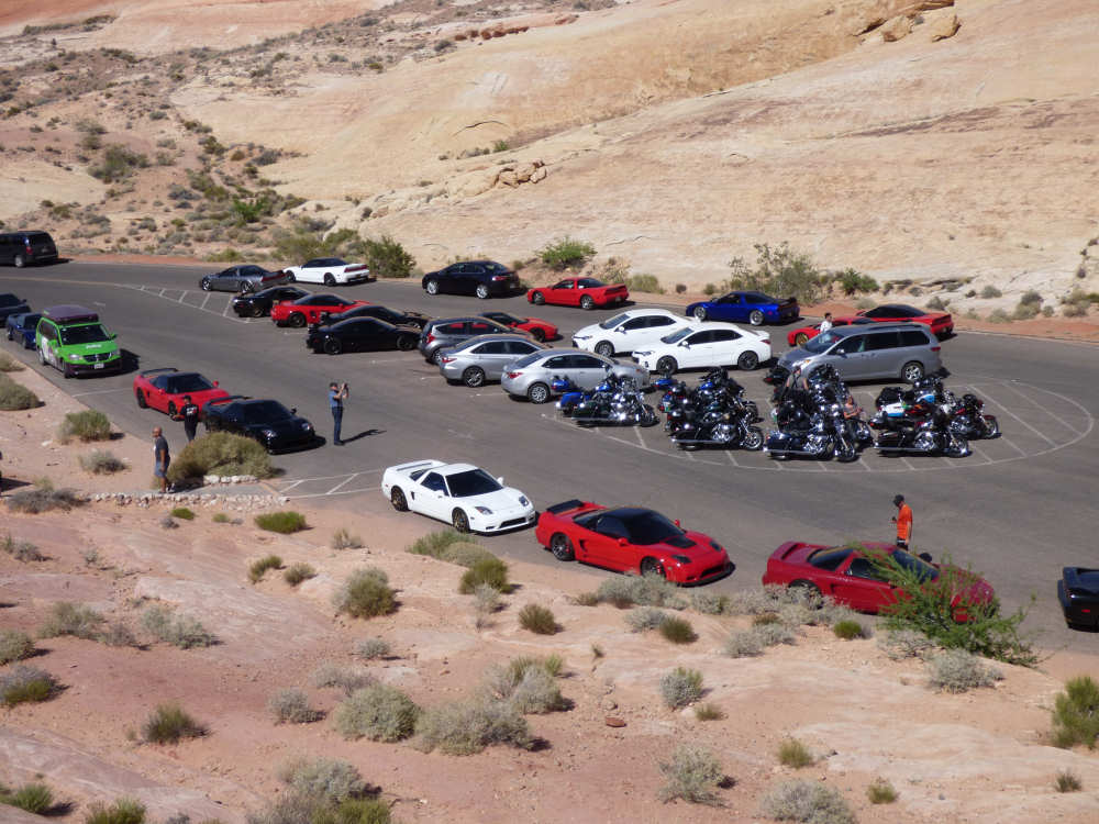 De Honda NSX Fan Club in Valley of FIre State Park