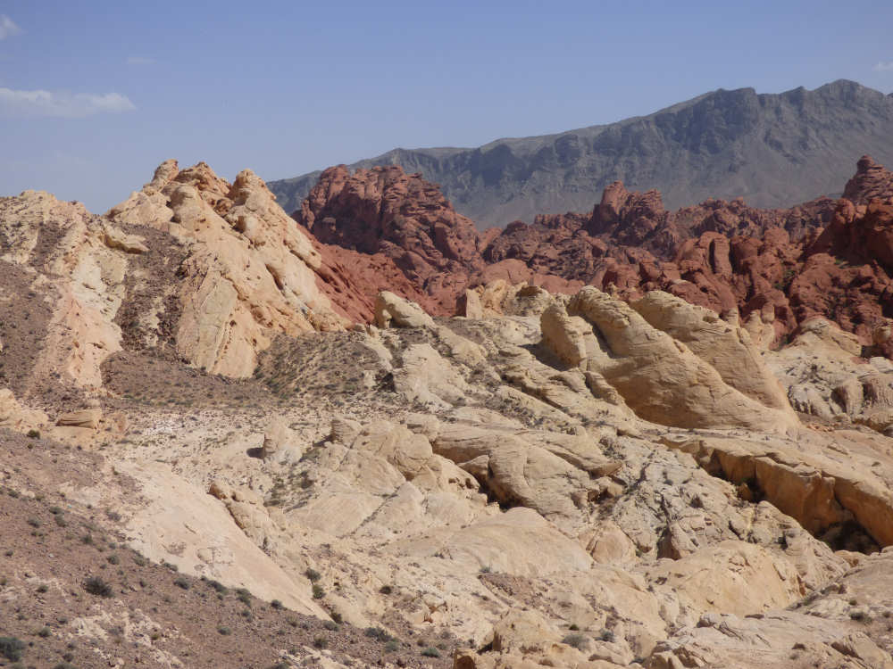 Prachtige rode en witte rots formaties Valley of Fire natuurpark