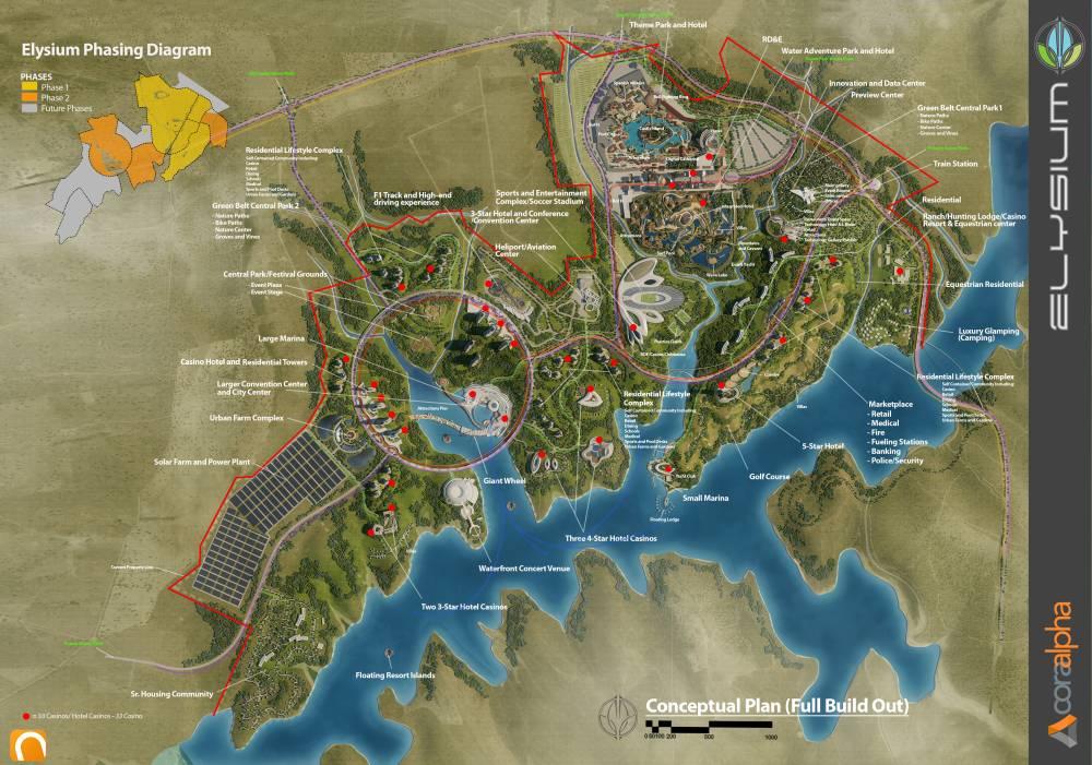 Verschillende Fases Elysium City