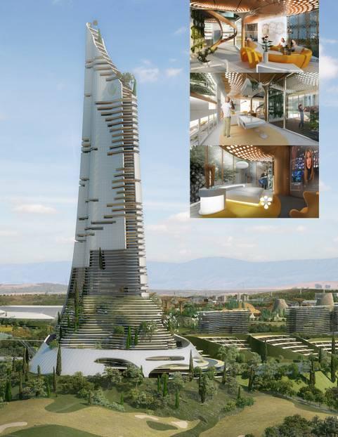 Elysium City, moderne, duurzame en slimme gebouwen